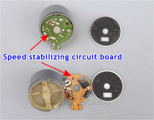 Mabuchi EG-530AD-2F DC 12V CW Audio Motor for Tape Deck GangspilMotor Audiomotor
