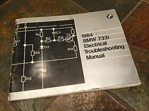 1984 bmw e23 733i electrical troubleshooting wiring diagram manual rh ebay ie