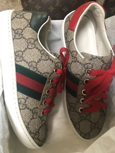 10279f6f0cb gucci kids Shoes   Sneakers W T Green   Red Web  GG Logo   Box  Dust ...
