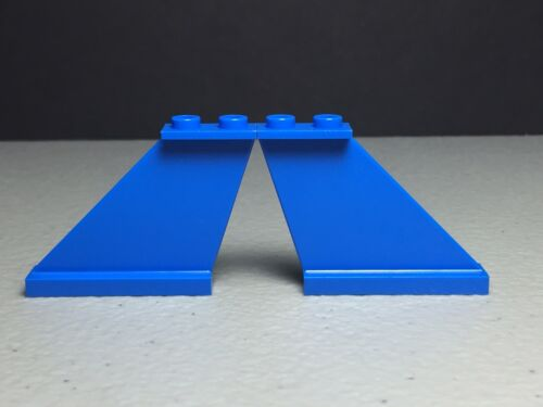 NEW LEGO Aircraft Tail Blue 4x1x3 Qty 4 AUTHENTIC #2340