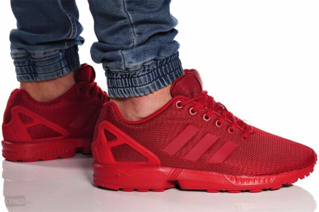 new product 56b3c 4659a New ADIDAS Originals ZX Flux Casual Sneakers Mens triple red all sizes