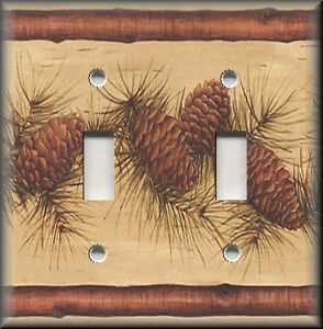 Light Switch Plate Cover Rustic Pine Cones With