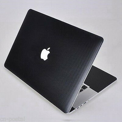Black Carbon Fibre skin Sticker Cover Guard fr Apple Retina MacBook Pro 15 A1398