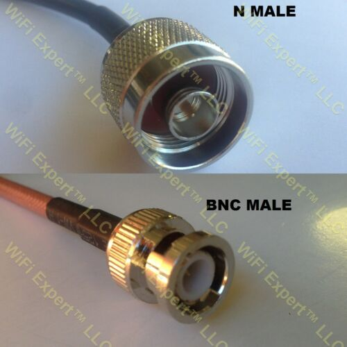 USA-CA LMR100 N MALE to BNC MALE Coaxial RF Pigtail Cable