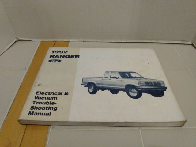 1992 Ford Ranger Wiring Diagrams Electrical Service Manual