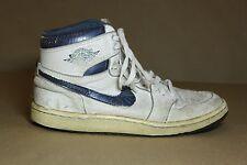 "1985 Air Jordan 1 ""Metallic Blue"" US Mens Size 9 RARE- 1986 1987 OG NIKE-"