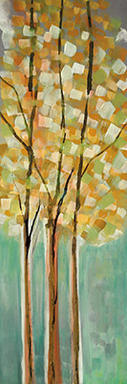 Susan Jill  Shandelee Woods II Fertig-Bild 30x90 Wandbild Bäume Wald