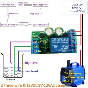wiring diagram 12v water level automatic controller liquid sensor  switch solenoid on continuous run solenoid,