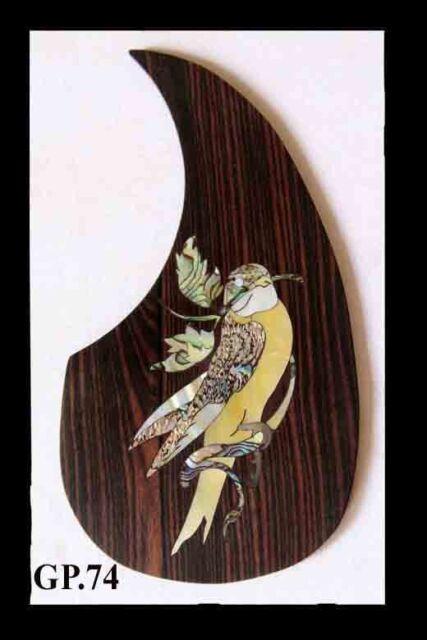 Antonio-bird Inlaid Handmade Solid Wood Pickguard Acoustic 6 Strings Guitar  GP74