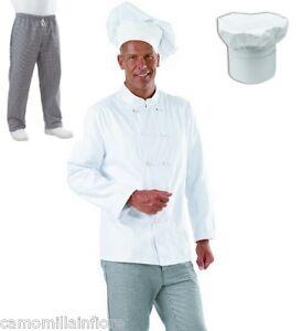 Caricamento dell immagine in corso Completo-Divisa-Cucina-Giacca -Pantalone-A-Quadretti-Cappello- 17d4629f59b9