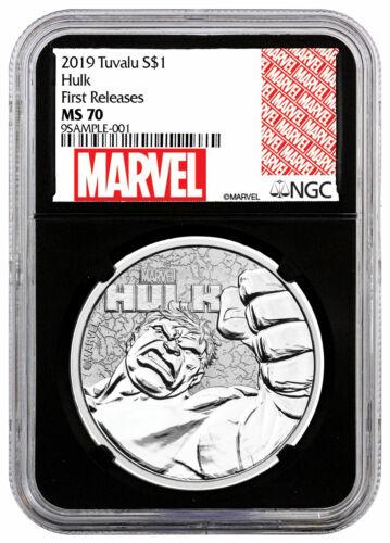 2019 Tuvalu Hulk 1 oz Silver Marvel Series $1 NGC MS70 FR Black Core SKU59126