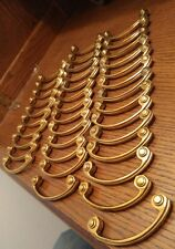 """Lot of 37 Vintage Solid Brass Cabinet Drawer Handles Pulls 3 5/8"""" Deco Classic"""
