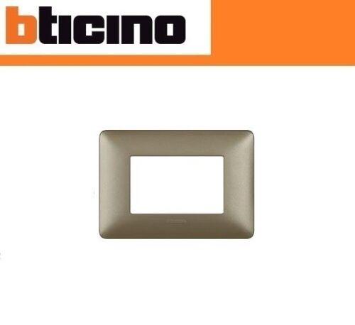 PLACCA 3 POSTI BTICINO MATIX COLORE TITANIUM AM4803MTA