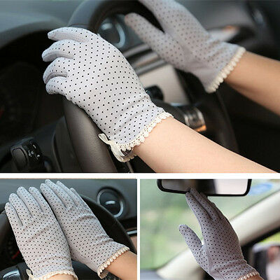 New 5 Colors Female Cotton Antiskid Short Sunscreen Gloves Driving Gloves Hot