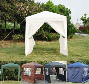 Image is loading 2m-x-2m-Garden-Heavy-Duty-Pop-Up- & 2m x 2m Garden Heavy Duty Pop Up Gazebo Marquee Party Tent Canopy ...