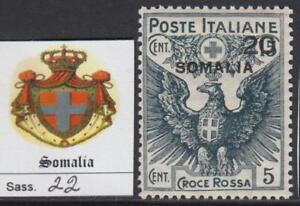ITALY-SOMALIA-1916-Red-Cross-Sass-n-22-cv-100-MNH
