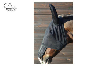 Busse Removable Full Nose Insect Eyesaver With Ears Fly Mask Secure Fit FREE P/&P
