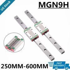 2x Mgn9h 250mm 300mm 600mm Linear Sliding Guide Rail W 2x Block Cnc 3d Printer