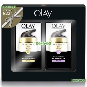 Olay-Total-Effects-Womens-Moisturiser-Day-SPF15-amp-Night-Cream-37ml-Duo-Gift-Pack