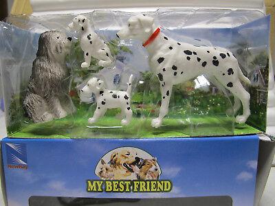 "Ambitious Newray Set 14 Ca 34033 1:12 Set "" My Best-friend "" Mit 4 Hunden Art"