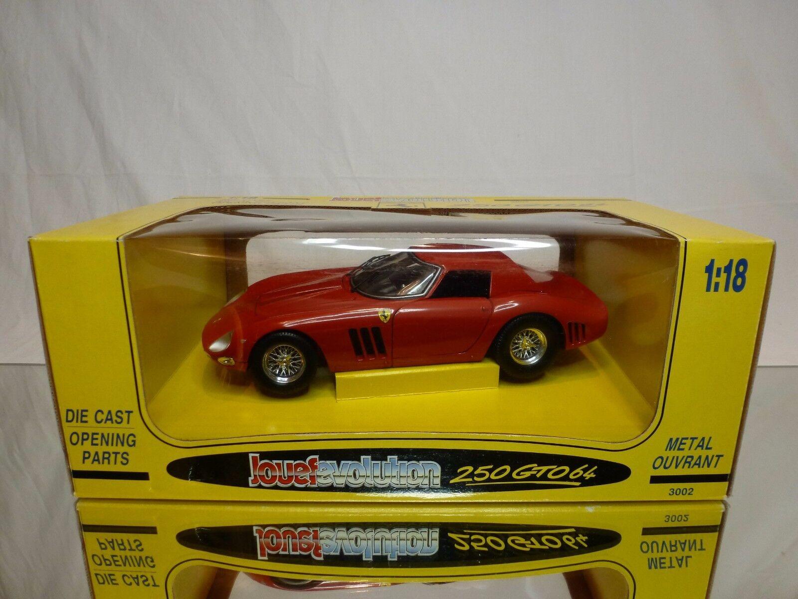 JOUEF EVOLUTION 3002 FERRARI FERRARI FERRARI 250 GTO 1964 - RED 1 18 - EXCELLENT IN BOX d26e31