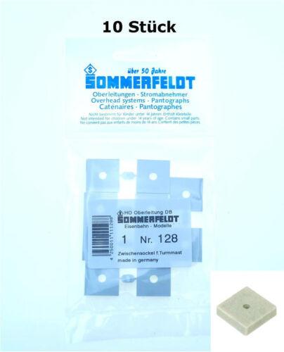 Sommerfeldt H0: 10 x Sockel für Turmmast 20x20x5mm - NEU SO 128 OVP