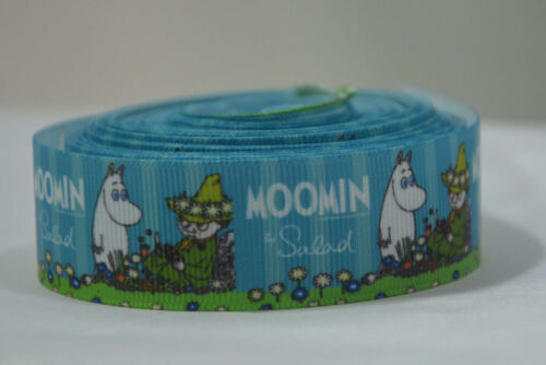 """THE MOOMINS TROLL SNUFKIN Ribbon 1 Metre 25mm 1/"""" Craft Cake Party Gift Wrap Hair"""