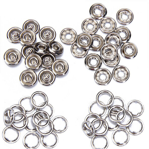 Prong Buckle Press Studs ROSEBEAR Metal Snap Fasteners Set Great for Clothing Sewing DIY Crafting. 100 pcs