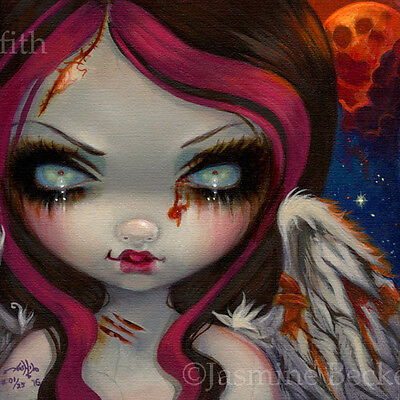 Faces of Faery 234 Jasmine Becket-Griffith art CANVAS PRINT Zombie Angel Fairy