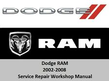 Dodge RAM 2002-2008 Service Repair Workshop Manual 1500 2500 3500 + SRT-10  CD