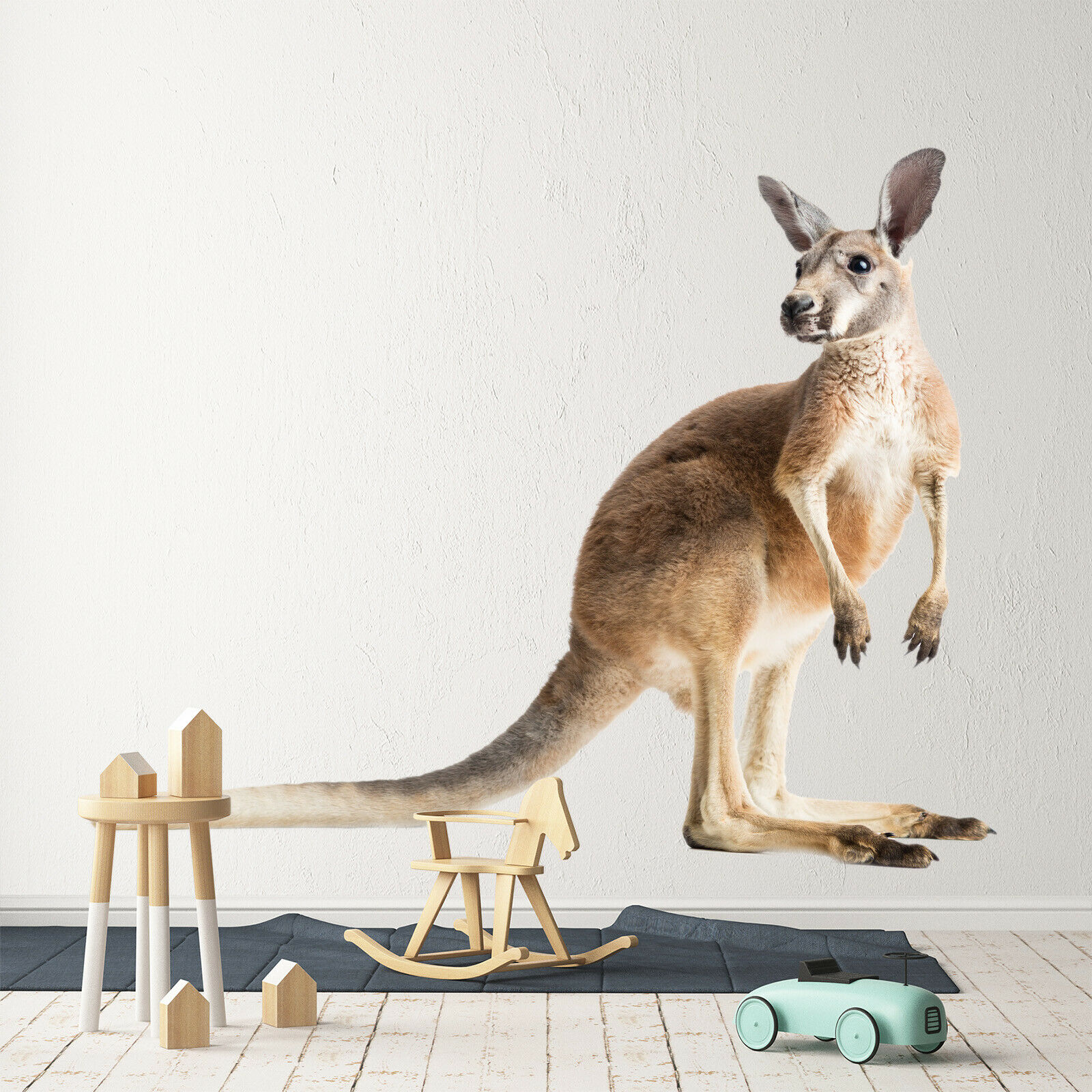 3D Kangaroo O65 Animal Wallpaper Mural Poster Wall Stickers Decal Angelia