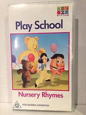 PLAY SCHOOL ~ NURSERY RHYMES ~ ABC FOR KIDS ~ VHS VIDEO