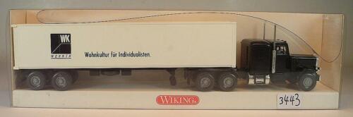 527 01 39 US-Truck Containersattelzug WK Wohnen OVP #3443 Wiking 1//87 Nr