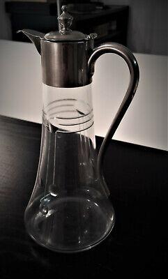 Jugendstil Kleine Karaffe, Kanne, Glas, Metallmontierung Gute WäRmeerhaltung