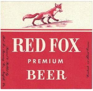 1d2497e94cc911 Image is loading Red-Fox-Premium-Beer-Label