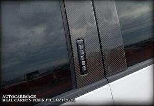 REAL CARBON FIBER PILLAR POSTS FOR FORD F-150 2015 2016 2017 18 BLACK ORANGE RED