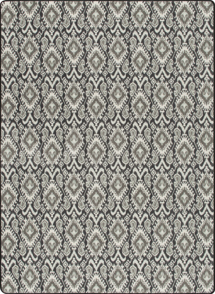 Milliken Graphite Hooks Diamonds Ribbed Contemporary Area Rug Geometric Crafted For Sale Online