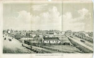 Juction-Of-Broadway-amp-eight-Avenue-N-y-1861-Lithography-By-Geo-Hayward