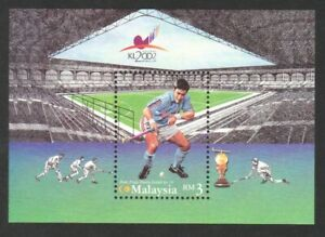 MALAYSIA 2002 WORLD CUP HOCKEY SOUVENIR SHEET OF 1 STAMP IN MINT MNH UNUSED