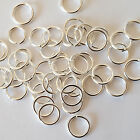 200 x 4mm (0.8mm Thick) Silver Plated Split Jump Rings - Craft Jewellery Making