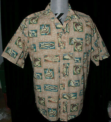 Rocawear Button Down Shirt Men 3XB 3X 3XL Heather Print Pocket Woven Khaki  P364
