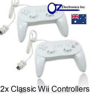 2x-New-Classic-Pro-GamePad-Controller-for-Nintendo-Wii-Australian-Seller-NEW