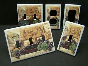 Image Is Loading Tuscan Wine Amp Grapes Home Decor Light Switch