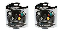 2 Brand Controllers For Nintendo Gamecube Or Wii Black