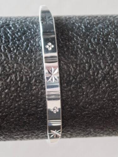 """20 g Armband verstellbar A09 Armreif /""""Sterne/"""" poliert Feinsilber 999 ca"""