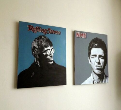 Oasis artwork Limited edition pop art print Liam Noel Gallagher painting canvas