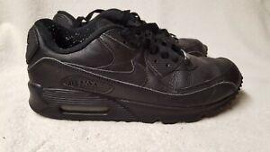 Details about Nike Air Max M 90 Black Shoes 302519 001 Mens Size 8