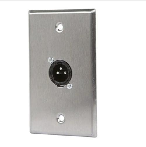 XLR Male 3 Pin One Port Zinc Alloy Wall Plate