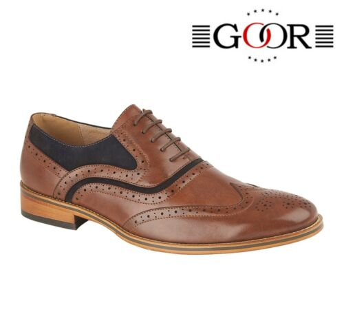Tan Navy  Size 6 7 8 9 10 11 12 MENS FORMAL SMART Wedding Brogues Oxford Shoes