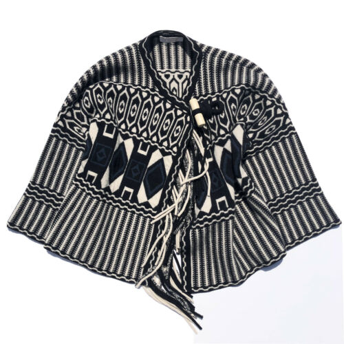 Chloe Intarsia-knit wool and cashmere-blend cape S